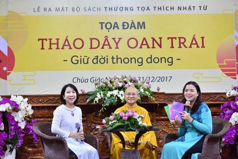 Lễ ra mắt bộ sách và tọa đàm: Tháo dây oan trái, Giữ đời thong dong tại chùa Giác Ngộ