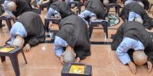 """Chùm ảnh: Buổi lạy Phật đầu tiên trong khóa tu """"Xuất gia gieo duyên"""" (lần 7)"""