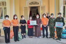Chùa Giác Ngộ - Quỹ ĐPNN: Trao tặng vật tư y tế và nhu yếu phẩm cho Bảo tàng Phụ nữ Nam Bộ