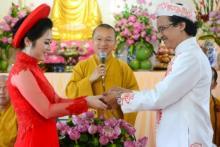 Ấm áp và ý nghĩa trong lễ hằng thuận của hai Phật tử chùa Giác Ngộ