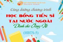THƯ VẬN ĐỘNG  CÚNG DƯỜNG HỌC BỔNG TIẾN SĨ KÌ 5 (HBTS-5)