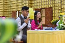 Chùa Giác Ngộ: Lễ hằng thuận của Trần Hồng Ngọc và Lim San Chun