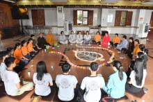 Một số hình ảnh trong khóa tu Tuổi Trẻ Hướng Phật cuối cùng của năm Canh Tý