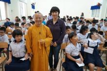 TT. Thích Nhật Từ thuyết giảng tại trường THPT đặc biệt Nguyễn Đình Chiểu