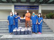 200 hộp cơm nghĩa tình được mang đến cho tình nguyện viên tại Bệnh viện Hồi sức Covid-19