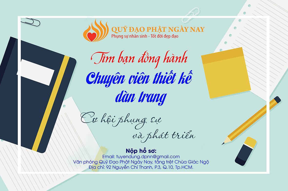 Quỹ Đạo Phật Ngày Nay: Tìm Người Bạn Đồng Hành Chuyên Viên Thiết Kế Dàn Trang