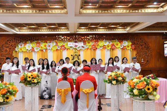 Chùa Giác Ngộ: Lễ hằng thuận của chú rể Du Phạm Quang và cô dâu Trần Thị Mỹ Dung