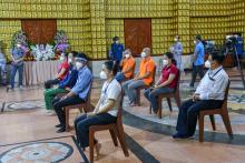 Lễ xuất quân đợt 3 của các tình nguyện viên Phật giáo