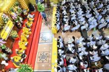 TP.HCM: Gần 500 bạn trẻ tham dự khóa tu tại chùa Giác Ngộ