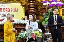 """Ca sĩ Lâm Chấn Huy tham dự Talkshow """"Vì sao tôi theo đạo Phật"""" tại chùa Giác Ngộ"""