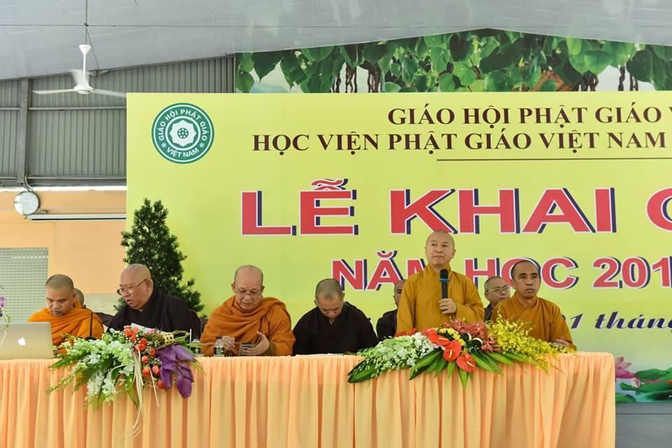LỄ KHAI GIẢNG NĂM HỌC 2018-2019 HỌC VIỆN PHẬT GIÁO VIỆT NAM TẠI TP.HCM ngày 01/10/2018.